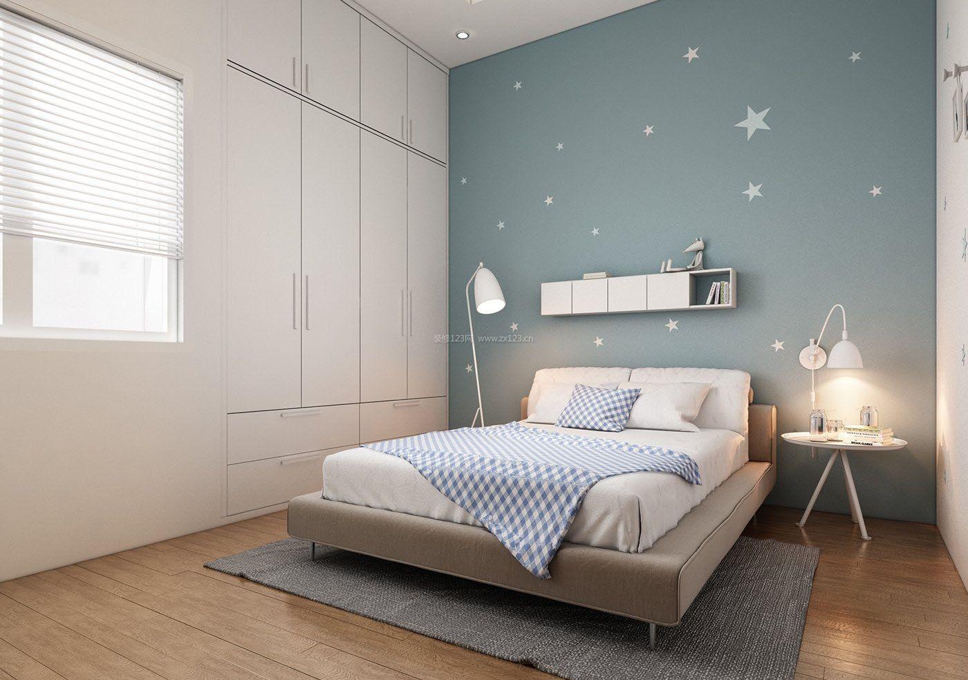 40平米单身公寓嵌入式衣柜装修图片