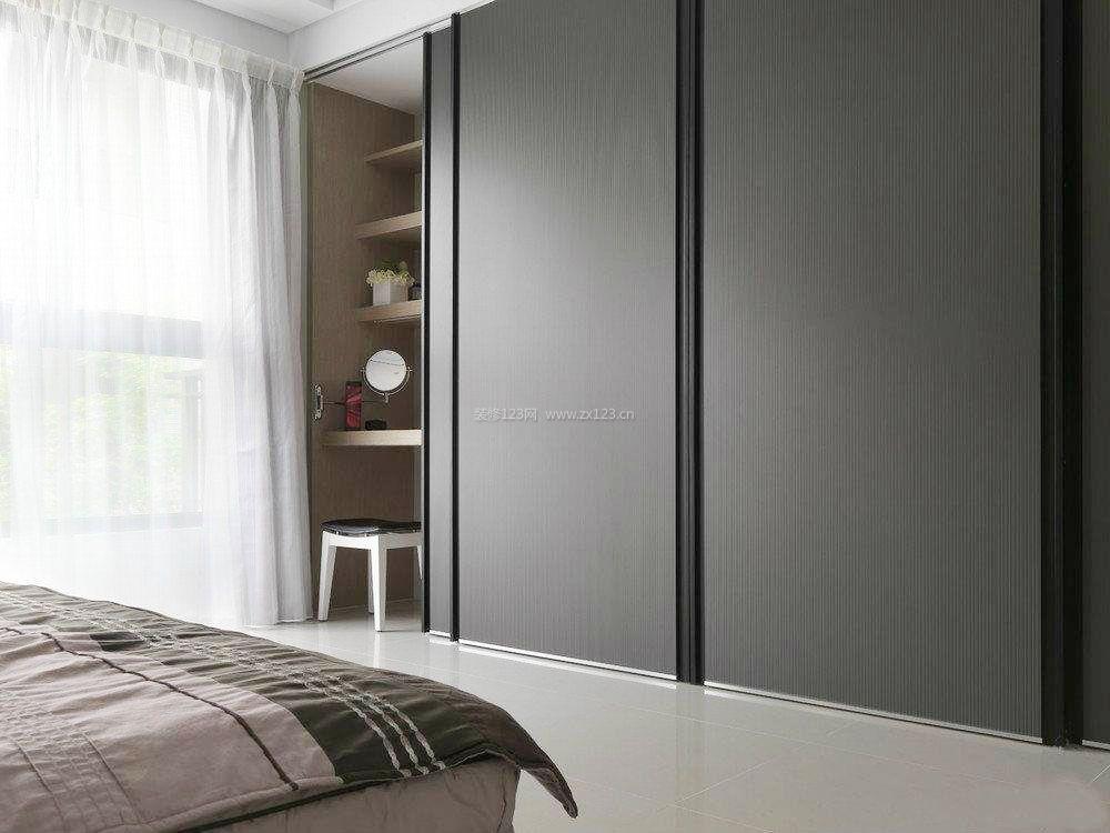 现代家装主卧室索菲亚衣柜门图片_装修123效果图