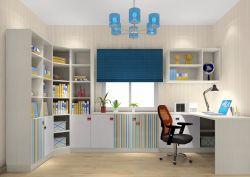 家庭書房簡約書柜電腦桌一體圖片