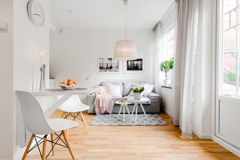 北欧风格30平米单身小公寓装修_装修123效果图