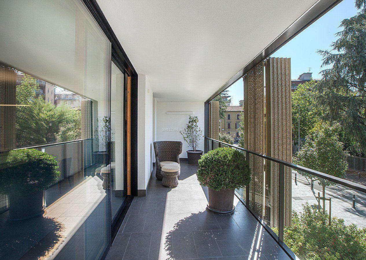 家装效果图现代现代大户型封阳台玻璃窗效果图提供者:←