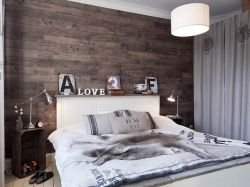 2017北歐臥室床頭背景墻設計裝修效果圖片