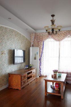 美式田园家装客厅电视墙壁纸效果图大全