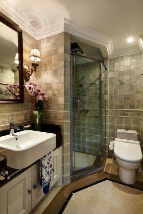 小户型卫生间瓷砖贴图装修图片