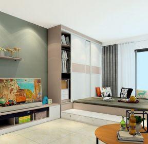 30平米单身小公寓榻榻米床装修图-每日推荐