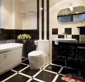 小户型卫生间地砖装修图片-每日推荐