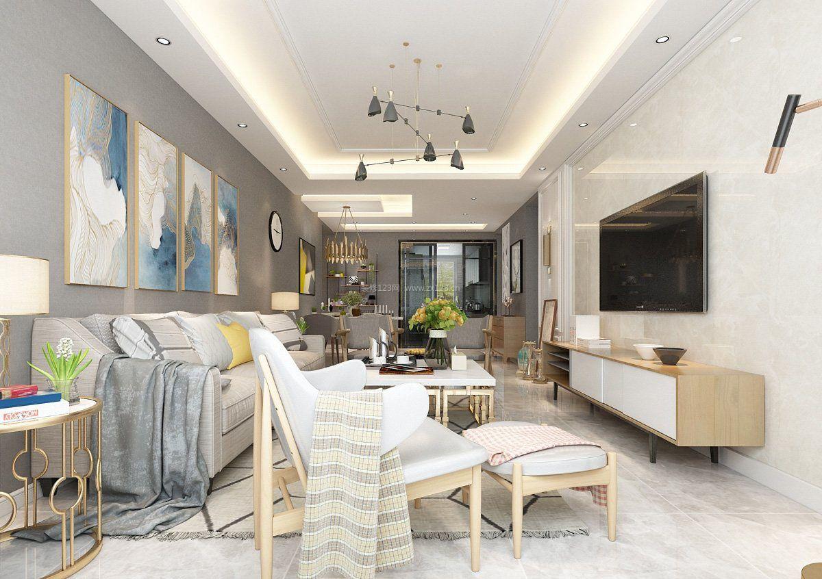 120平方房屋样板房装修家具图片