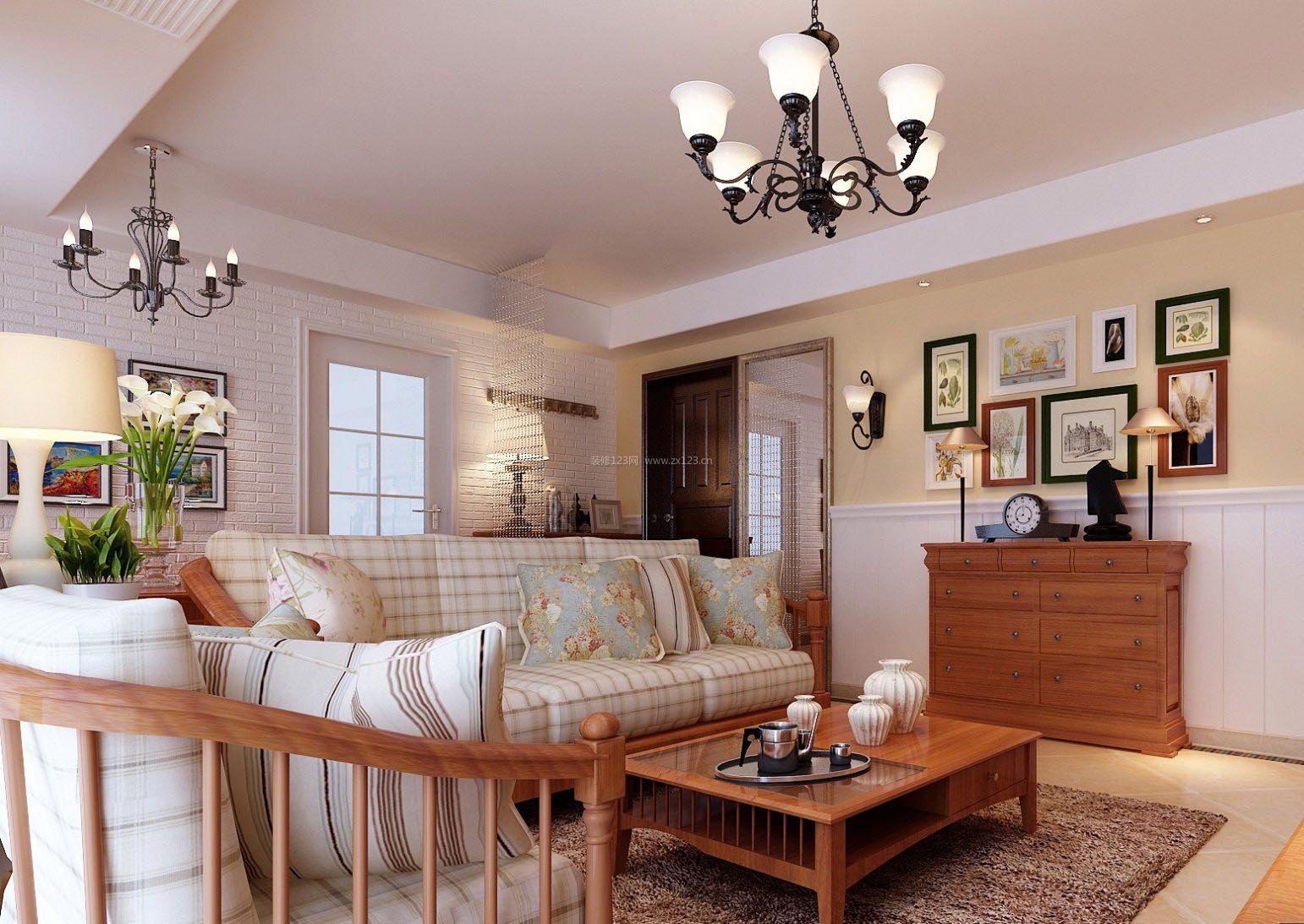 美式田园风格120平方房屋样板房装修