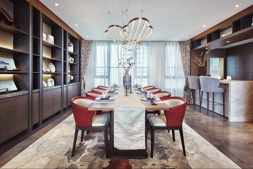 家装效果图 中式 中式别墅餐厅家具柜子图片大全 提供者:   ←