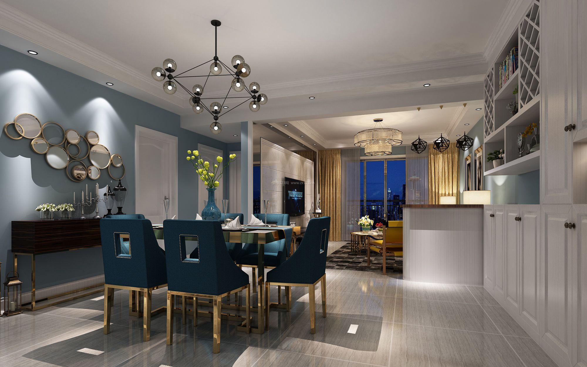家装效果图 现代 2017现代两室两厅客餐厅设计效果图片大全 提供者
