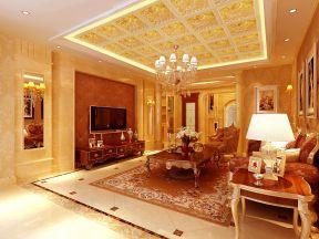 歐式奢華客廳裝修圖