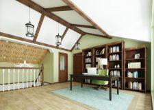 阁楼装修成书房怎么做 阁楼书房家具选择及布局