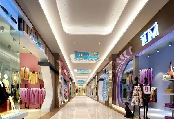 时尚商场走廊吊顶装修效果图-天霸设计团队实力宏厚值得南宁商业街