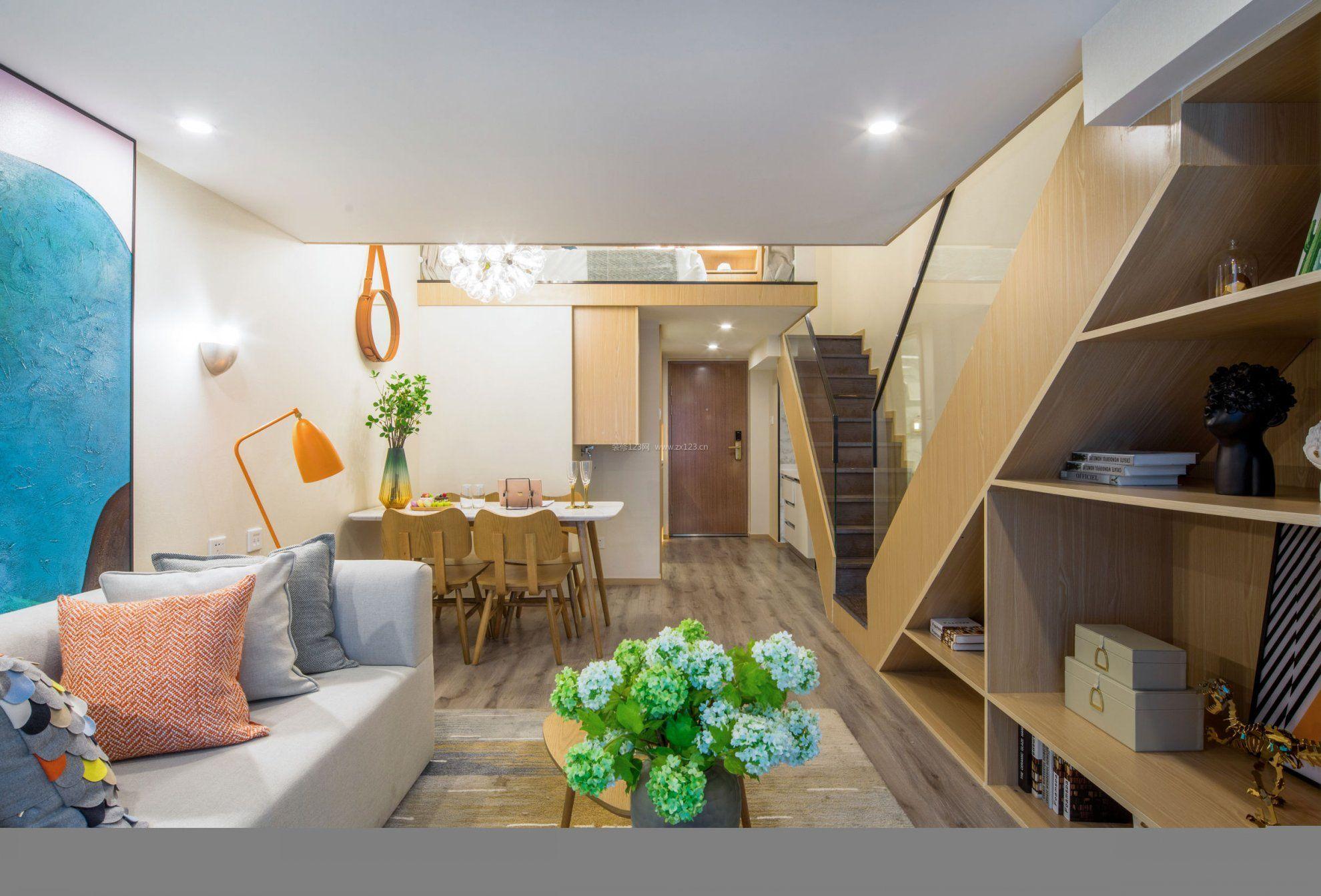 小户型复式单身公寓房屋平面设计图