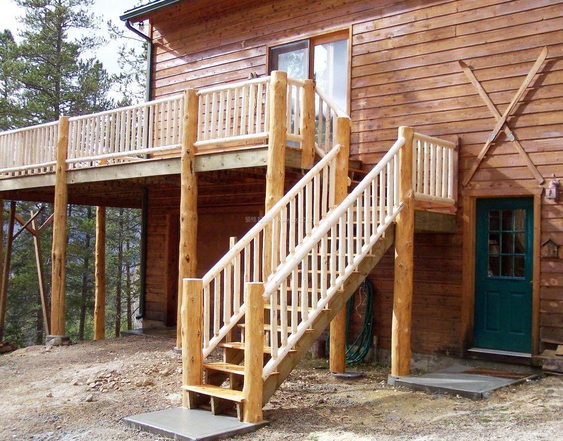 现代楼梯别墅风格二下图片效果_装修123木屋别墅实木载园艺图片