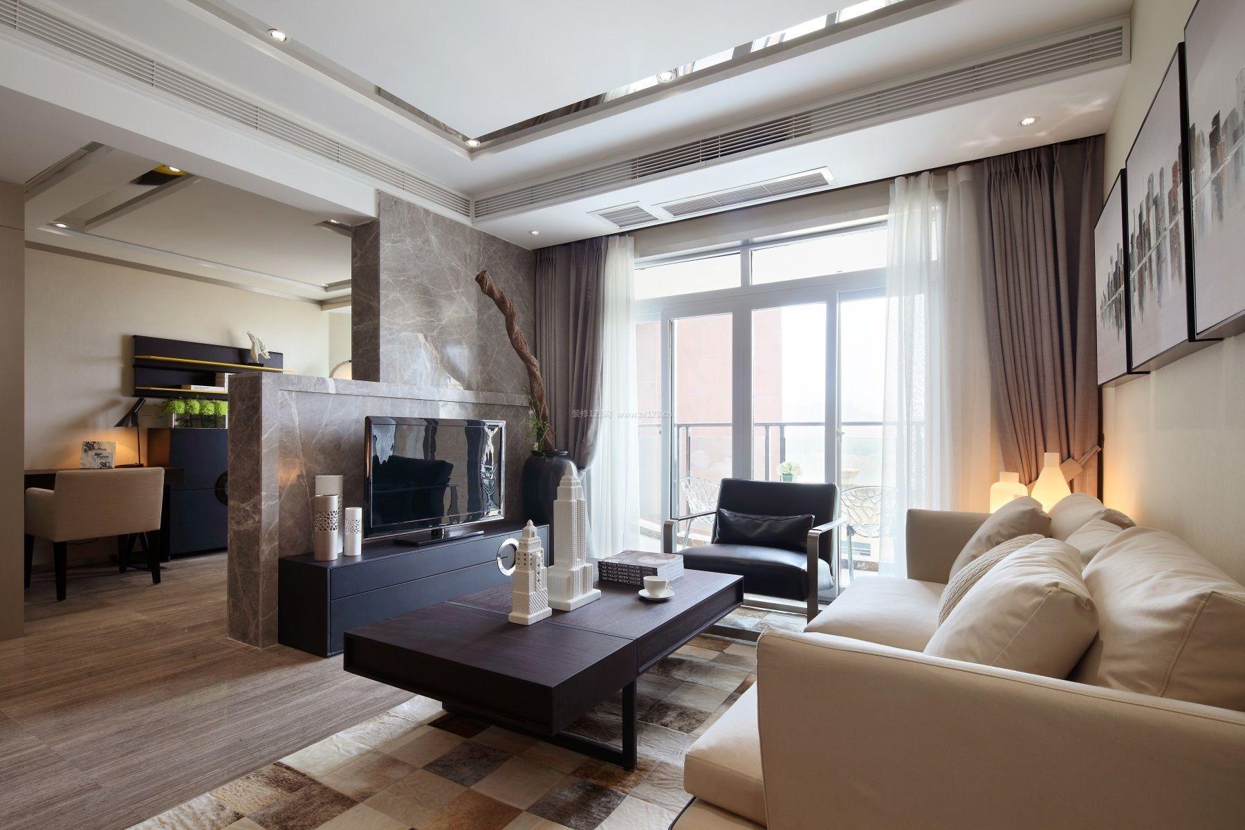 单身公寓小户型房屋客厅平面设计图片_装修123效果图