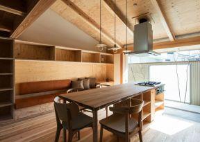 单身公寓小户型房屋原木装修设计平面图图片