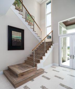 2017复式楼实木旋转楼梯设计图