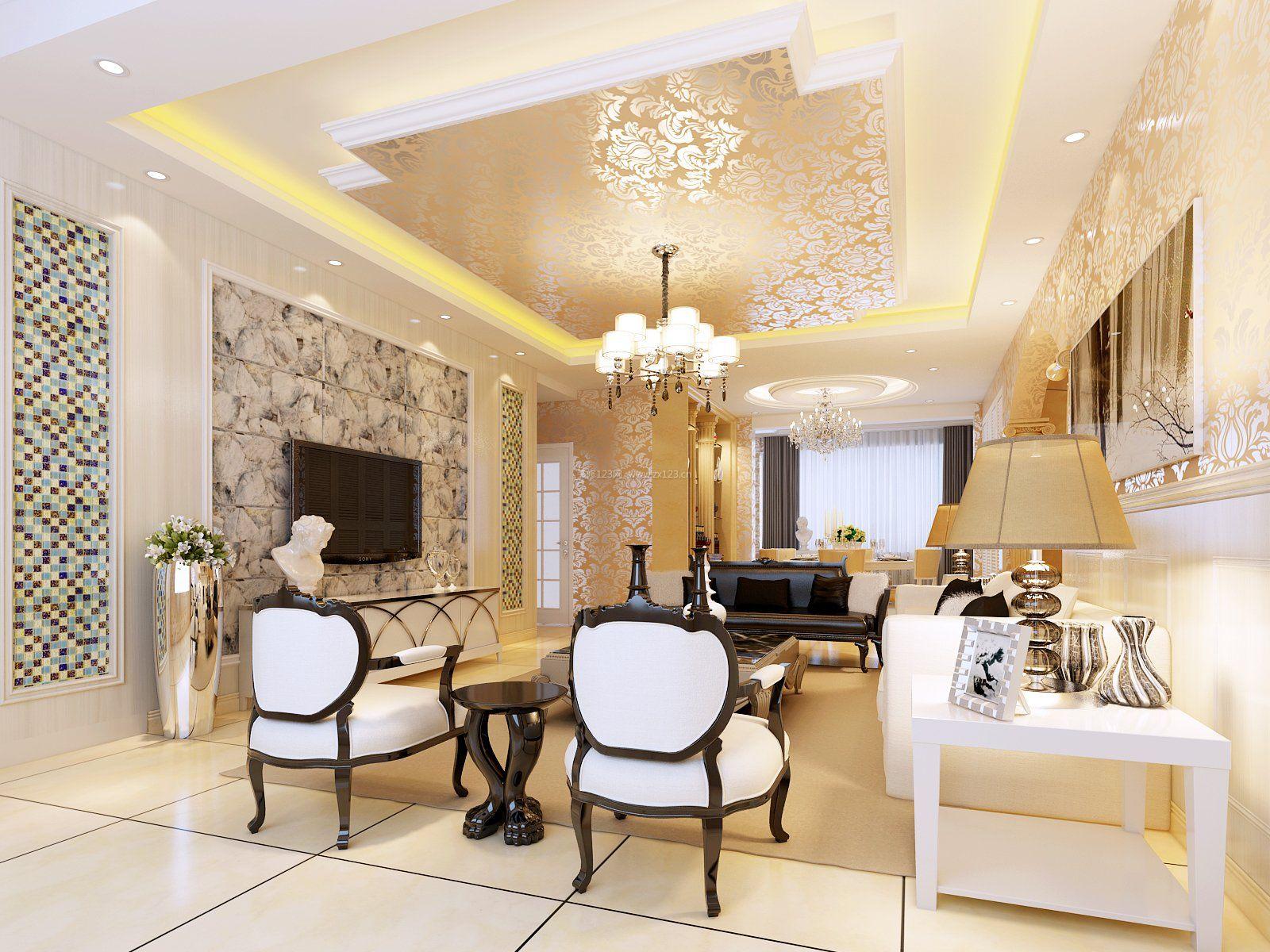 杭州房屋欧式客厅装修图