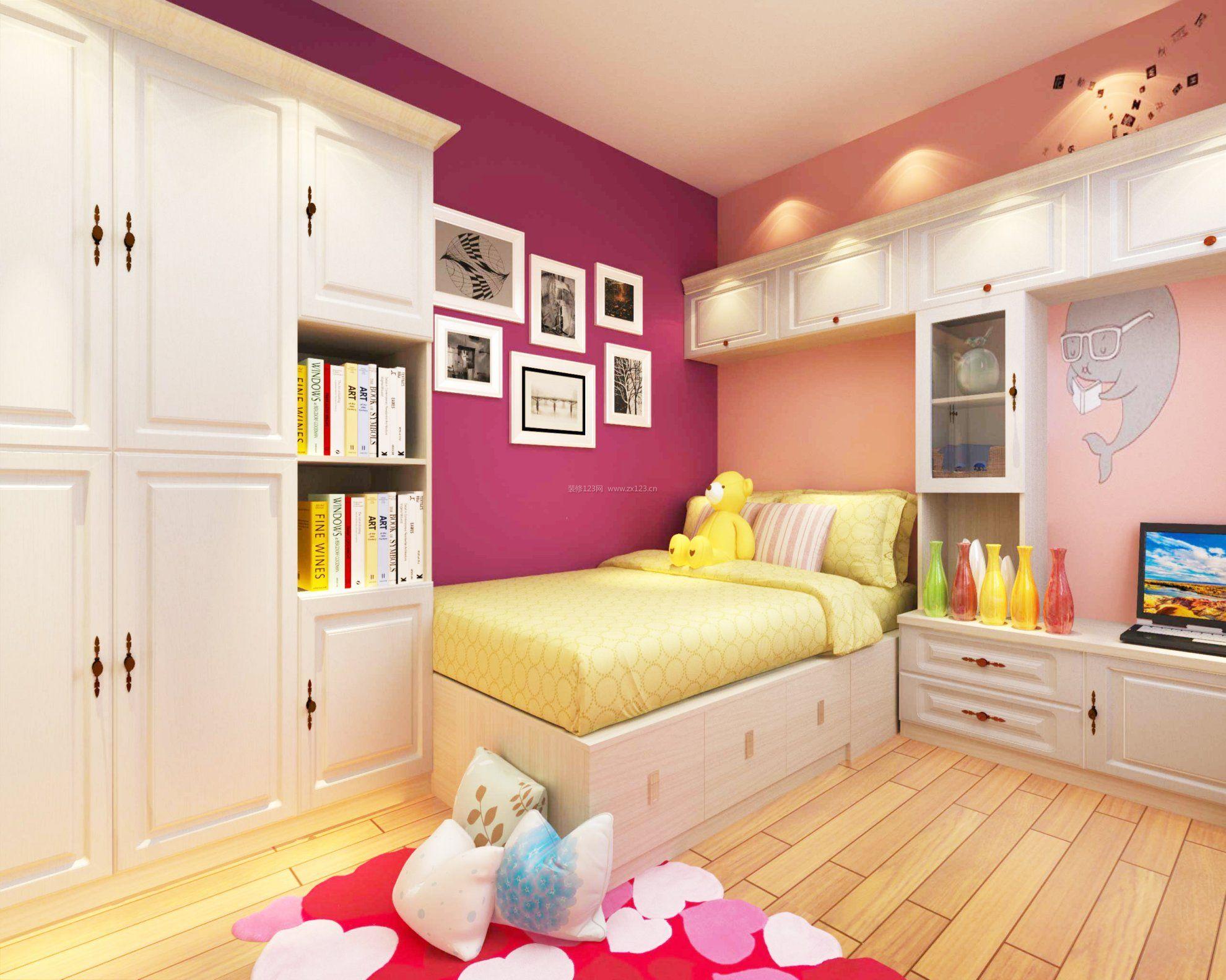 儿童卧室墙面漆效果图大全2017_装修123效果