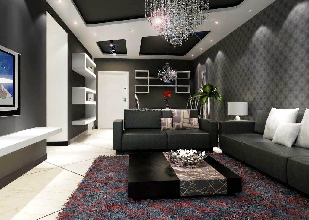 90平方室内客厅装修效果图大全_装修123效果图