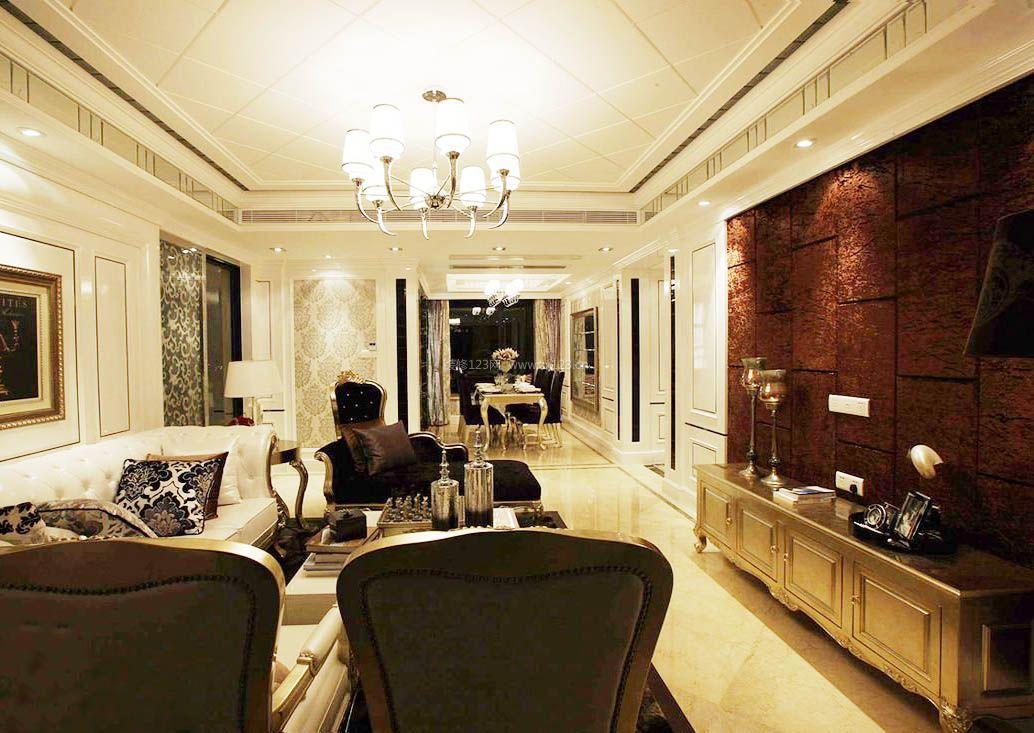 后现代长方形客厅装修效果图大全