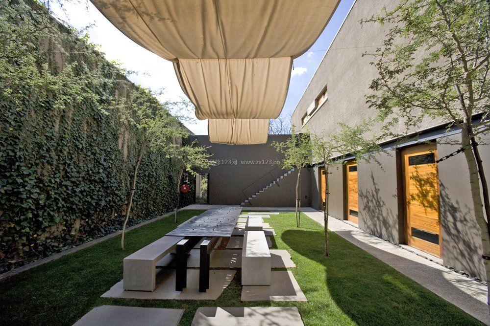 私家庭院景观休闲花园设计图_装修123效果图