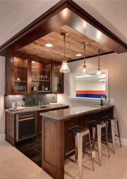 家庭小酒吧设计酒柜造型图片