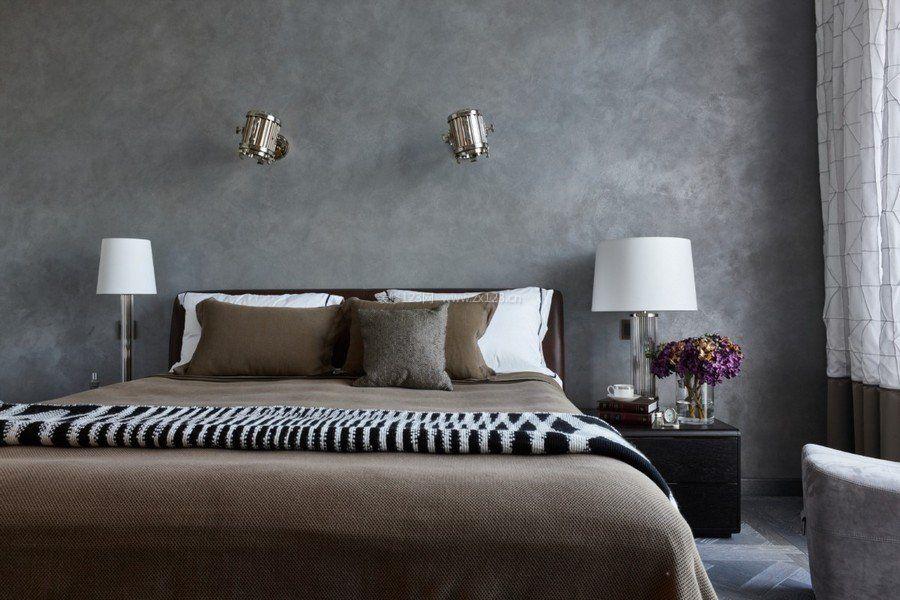 北欧风格卧室床头壁灯图片_装修123效果图图片