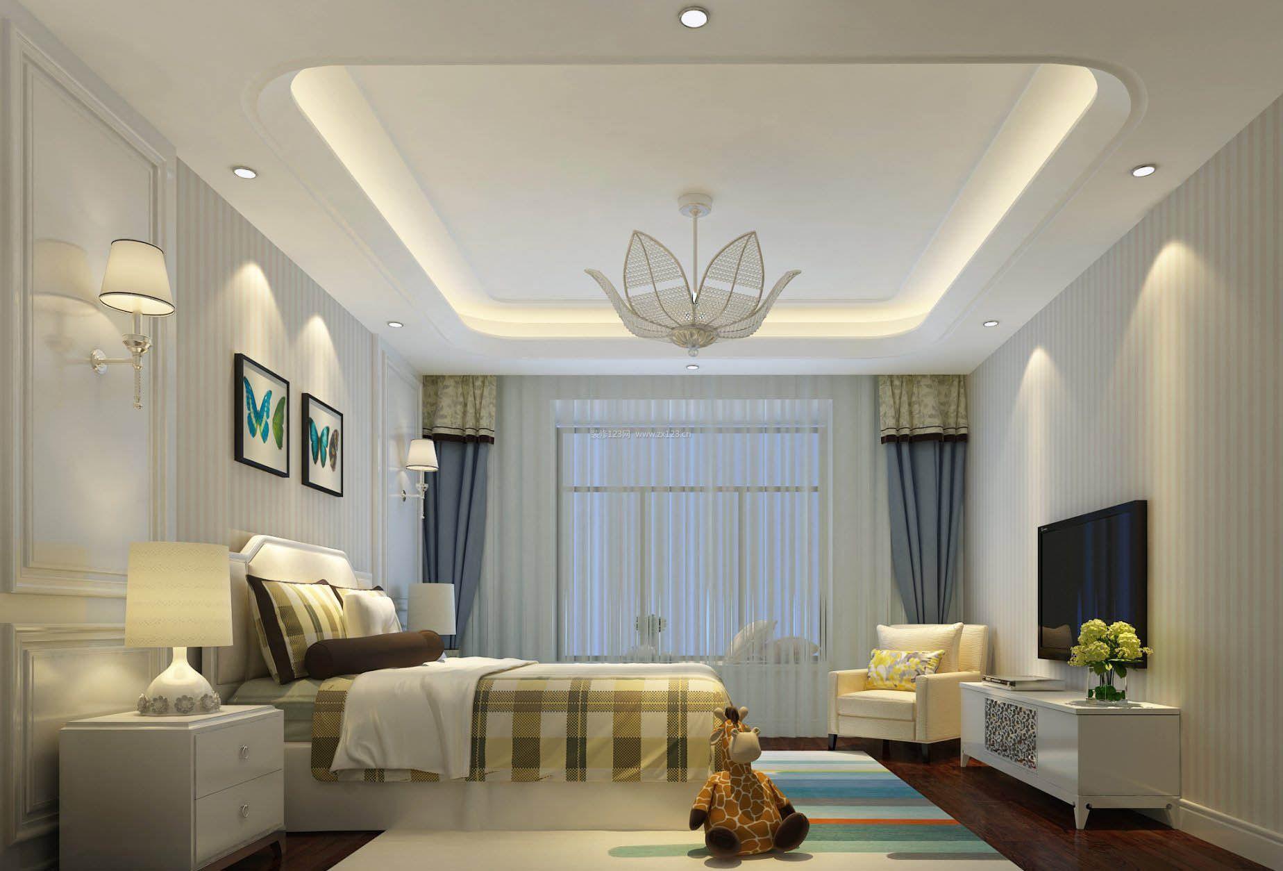 简约欧式卧室床头壁灯设计图片2017