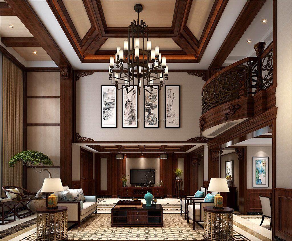 长沙中式别墅客厅装修效果图大全图片