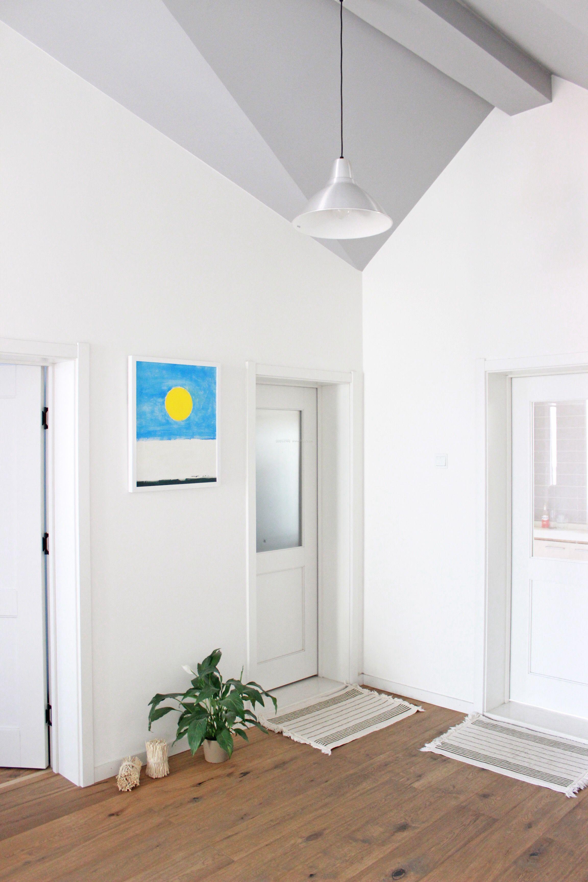 北欧风格家居白色墙面装修效果图片