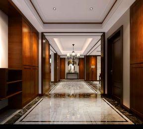 2017新中式客厅别墅走入图2017装修玄关装修入户式别墅独栋衣帽间图片