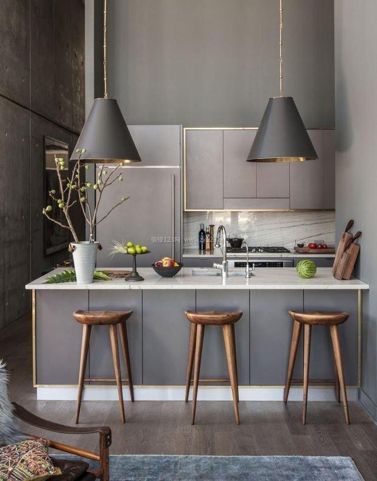 北欧风格小厨房带吧台装修效果图大全