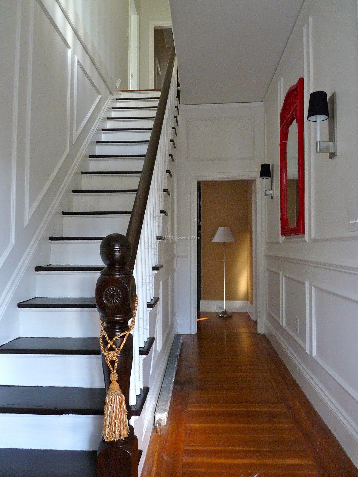 美式楼梯扶手设计家装效果图