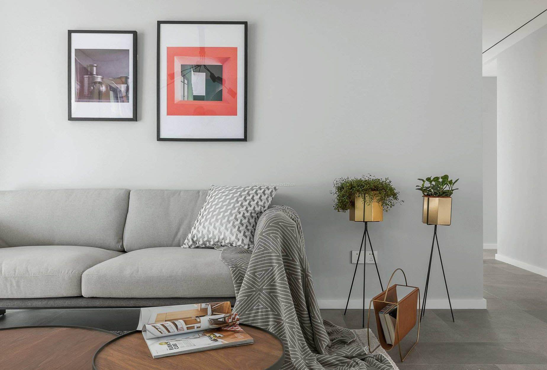 简欧式布艺沙发背景墙面图片大全