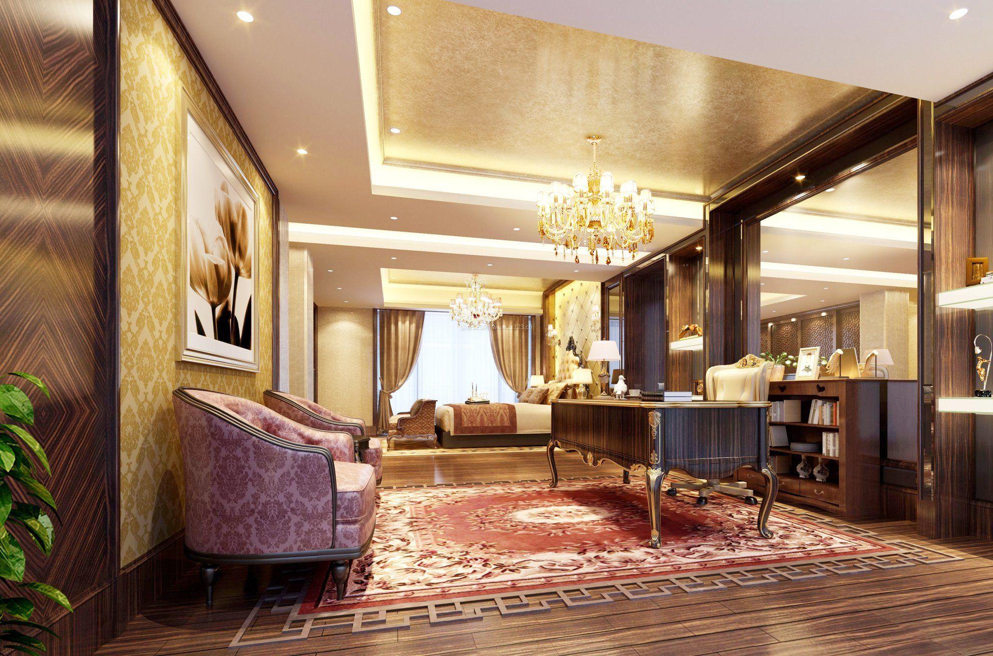 别墅跃层别墅精装修效果图前面我家高点比大厅的图片
