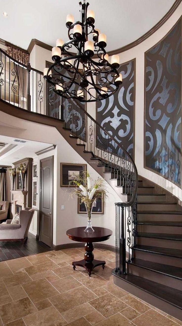 2017美式楼梯扶手设计大全