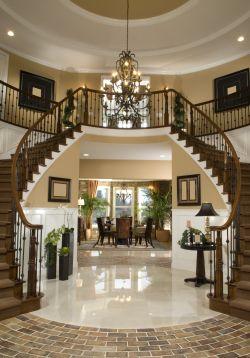 高檔別墅美式樓梯扶手設計
