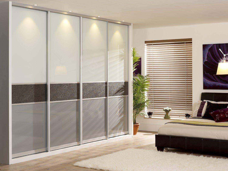 卧室入墙式衣柜门简单设计效果图片大全_装修123效果图图片