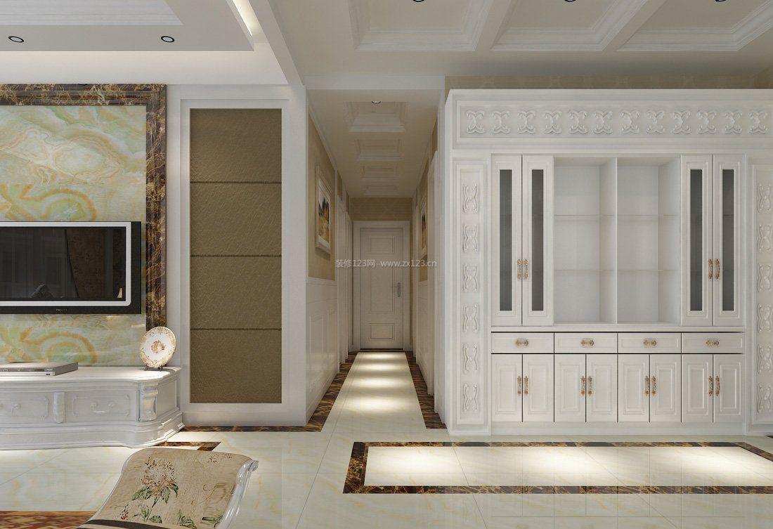 现代家装室内过道走廊吊顶效果图_装修123效果图