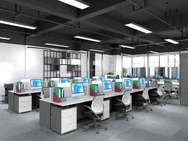 现代办公室装修吊顶效果图