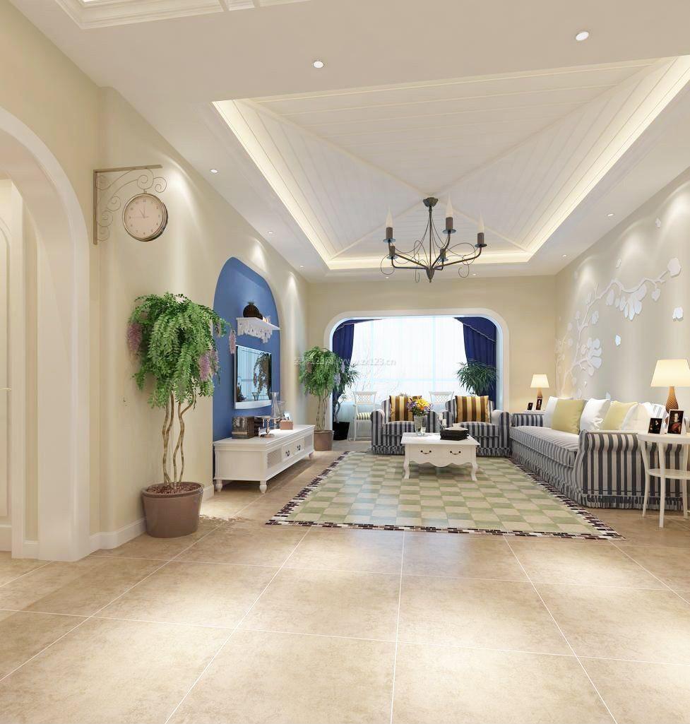 家装效果图 地中海 地中海风格两室一厅100平米装修图 提供者