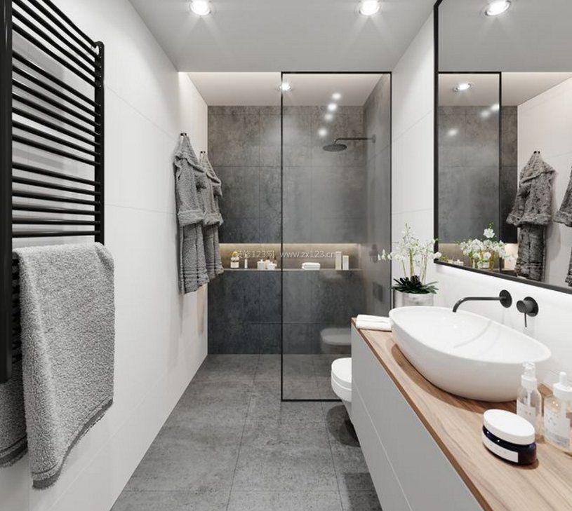 家庭小户型浴室毛巾架设计图片赏析_装修123效果图图片