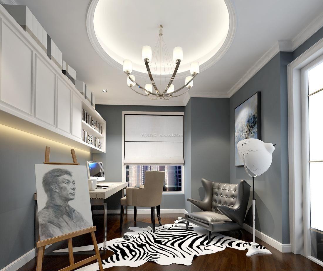 简欧风格两室一厅100平米装修图_装修123效果图图片