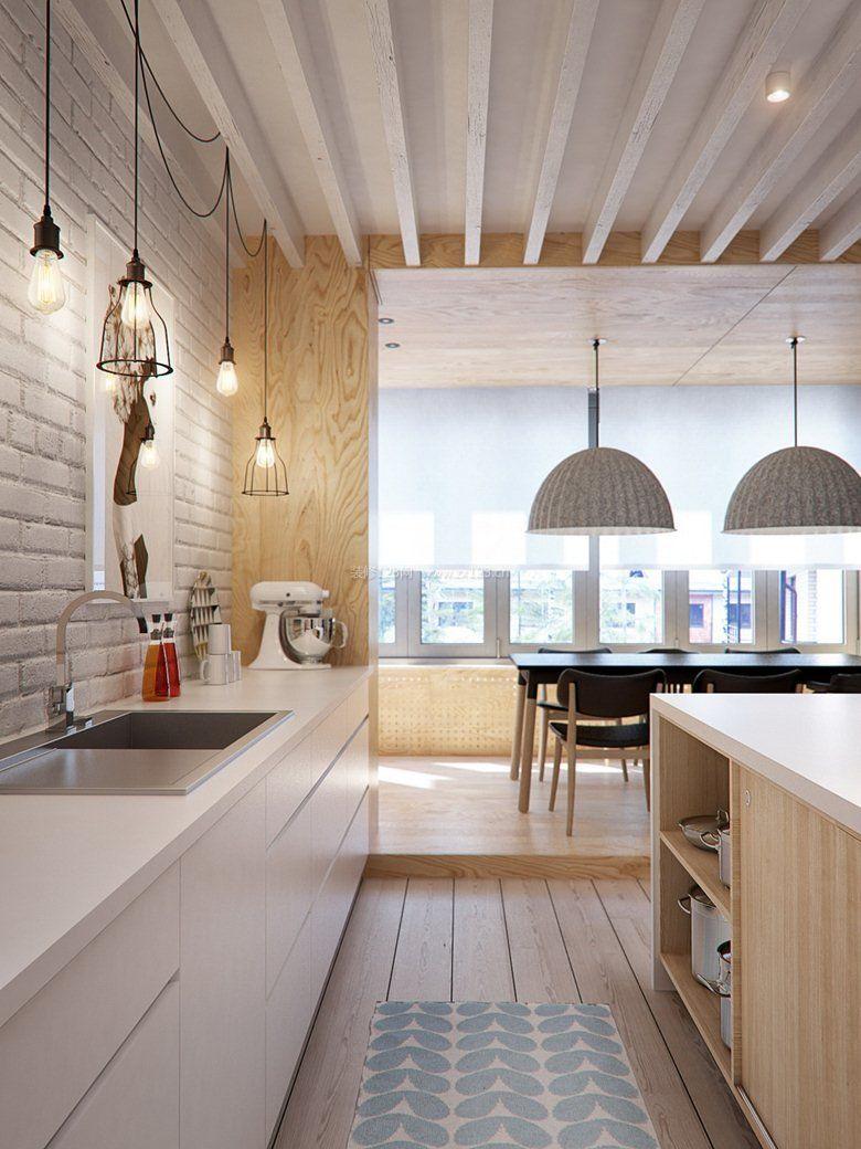 小厨房餐厅现代简约风格装修图片