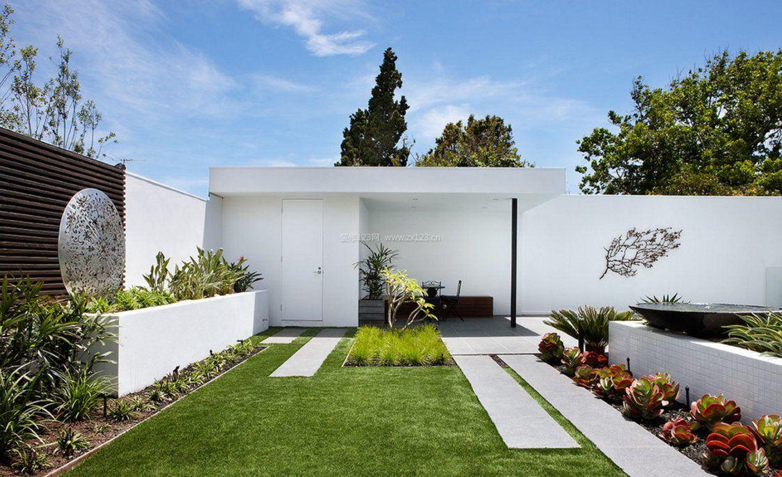 现代简约别墅屋顶花园平面图图片