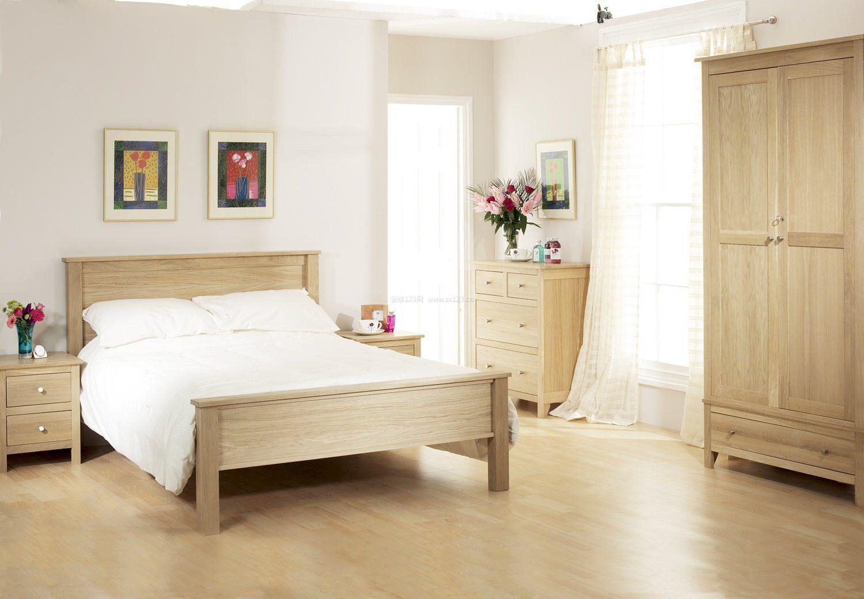 原木色系卧室地板装修效果图图片