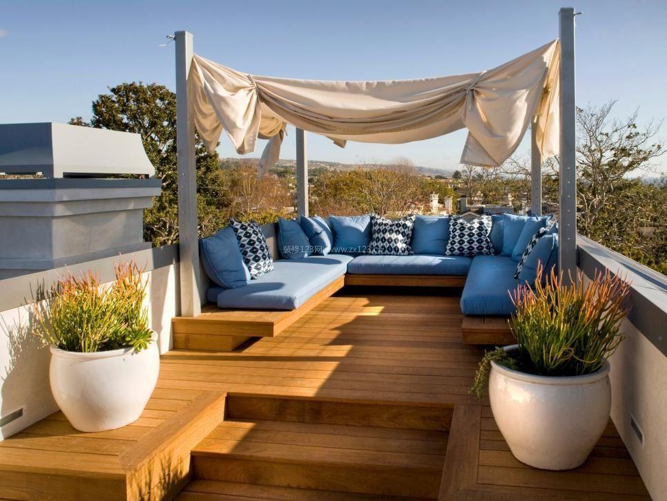 别墅屋顶花园错层设计平面图_装修123效果图