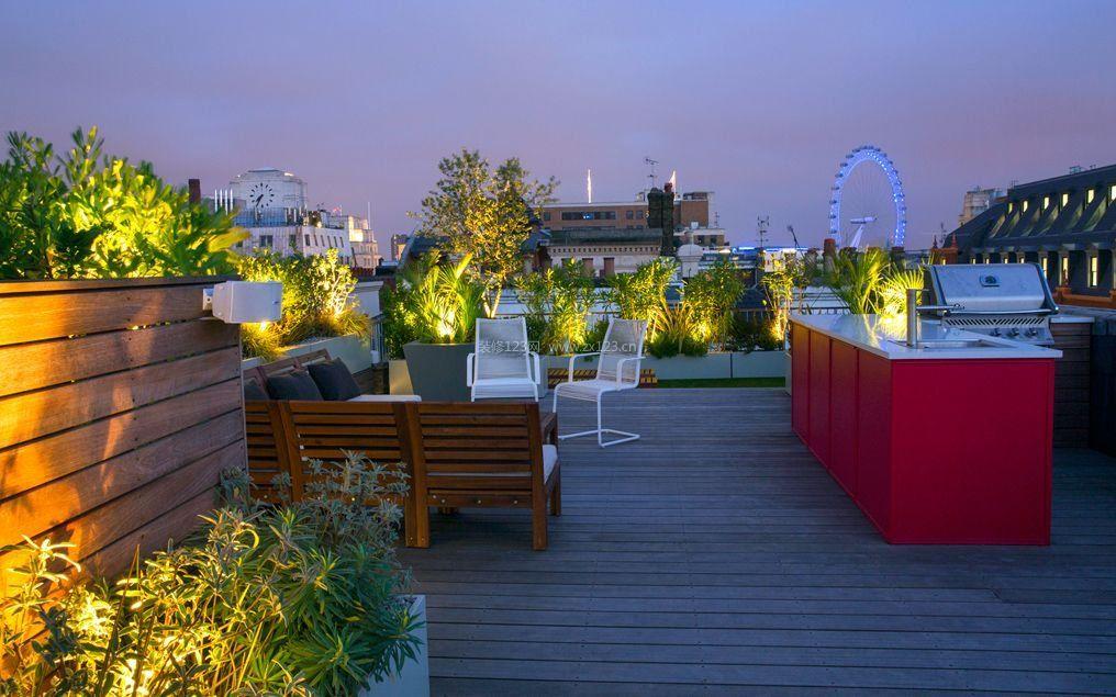 别墅屋顶花园休闲区布置平面图_装修123效果别墅缓坡图片